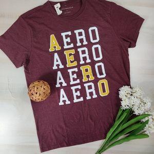 Aeropostale NWT wine logo T-shirt